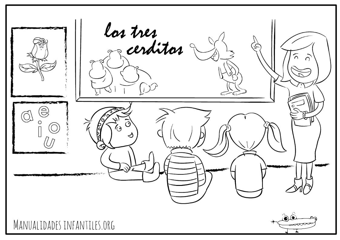 Dibujos De Maestras Para Colorear E Imprimir: Dibujos Del Maestro